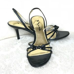Nina Strappy Black Heels